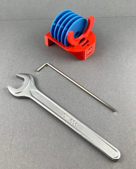 Ringhalter für die Einlegeringe der Frästplatten Bosch GKF 12V Mini-Frästischset