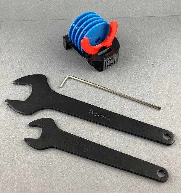 Ringhalter für die Einlegeringe der Fräsplatten Makita RT 0700 Mini-Frästischset