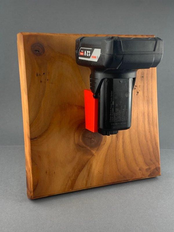 Akkuhalter Bosch 10,8V / 12V Halter für Bosch Akkus Holder Accu rot