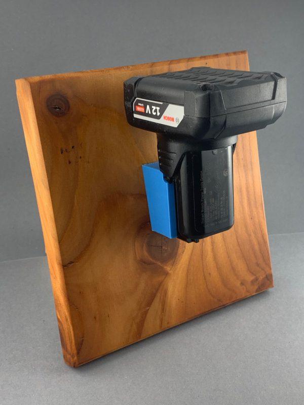 Akkuhalter Bosch 10,8V / 12V Halter für Bosch Akkus Holder Accu blau