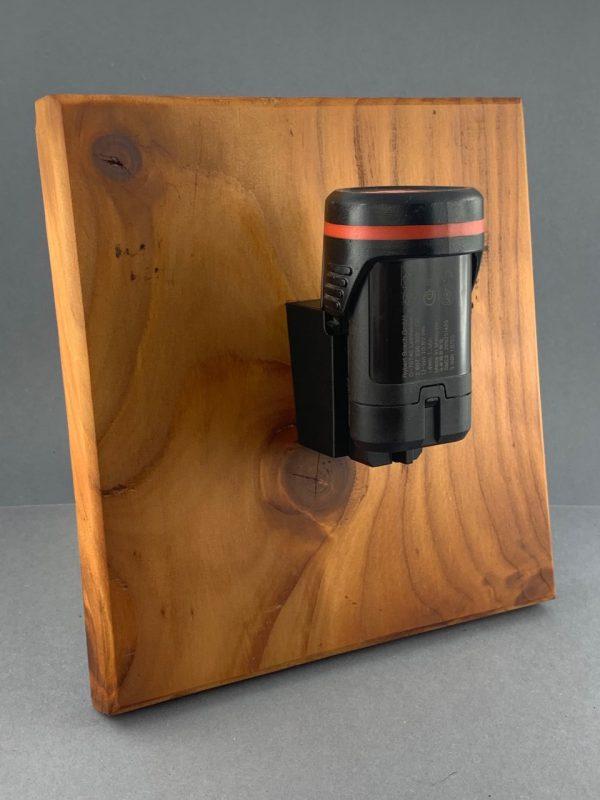 Akkuhalter Bosch 10,8V / 12V Halter für Bosch Akkus Holder Accu schwarz