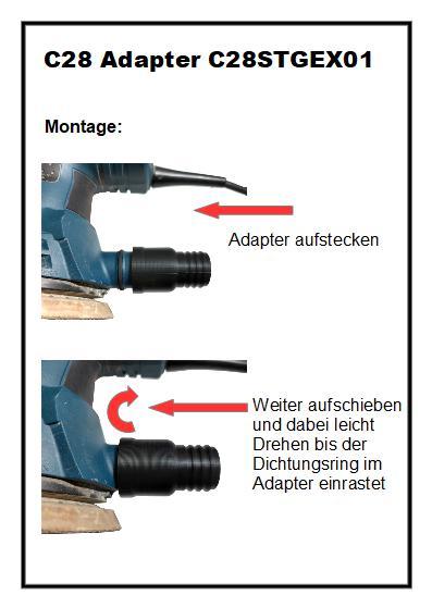 C28 Absaug-Adapter C28STGEX01 für Bosch Schleifer