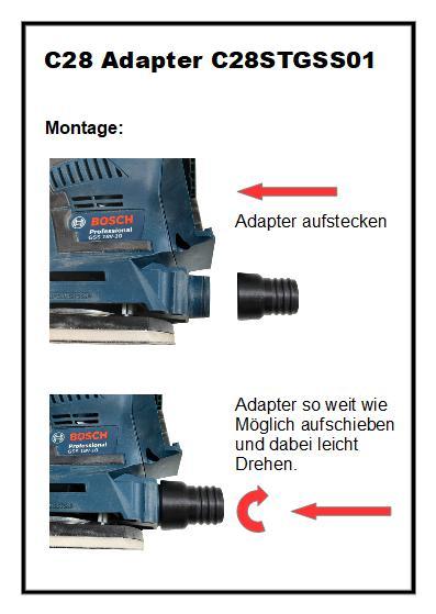C28 Absaug-Adapter für Bosch GSS 18V-10