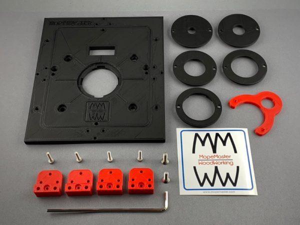 Mopemaster Frästisch Set in schwarz für die Bosch GKF 600