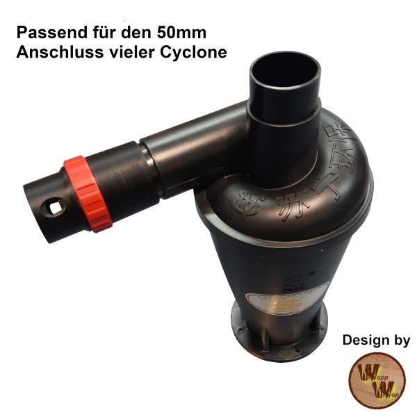 C35 Absaug-Adapter für Zyklon Abscheider und Nass-Trockensauger und DN50 HT-Rohr C35NTSDN50NL