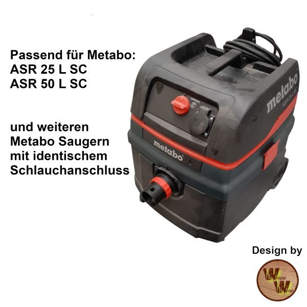 C35 Absaug-Adapter für Metabo Nass-Trockensauger und DN50 HT-Rohr C35NTSDN50NL