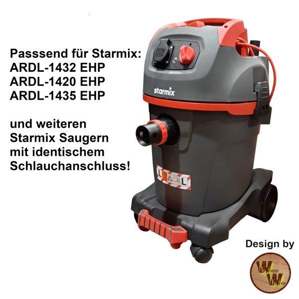 C35 Absaug-Adapter für Starmix Nass-Trockensauger und DN50 HT-Rohr C35NTSDN50NL