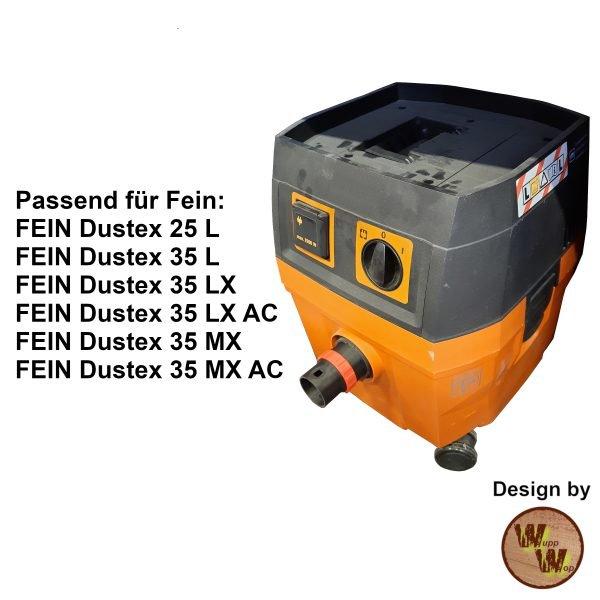 C35 Absaug-Adapter für Fein Nass-Trockensauger und DN50 HT-Rohr C35NTSDN50NL