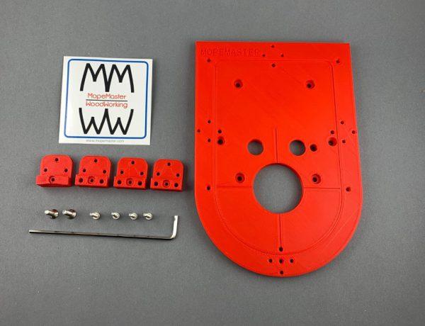 Frästisch Basisset für Kantenfräse Bosch GKF12V-8 in Rot