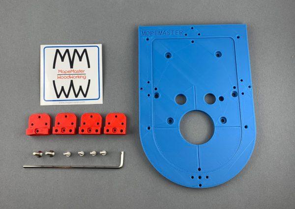 Frästisch Basisset für Kantenfräse Bosch GKF12V-8 in Blau