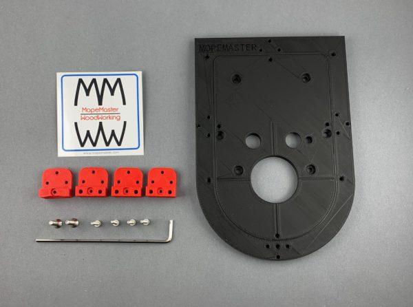 Frästisch Basisset für Kantenfräse Bosch GKF12V-8 in Schwarz