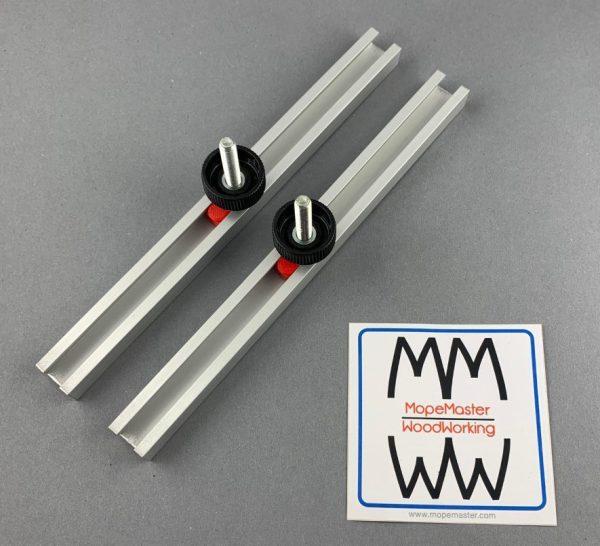 Aluminium C-Profil / T-Nut-Schiene mit M6 Griffschrauben