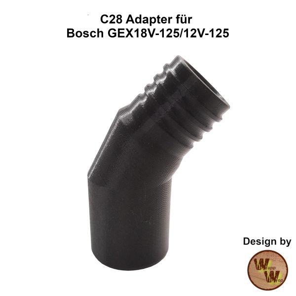 C28 Adapter C28GEX1812 passend für BOSCH Akku-Exzenterschleifer GEX18V-125 und GEX12V-125