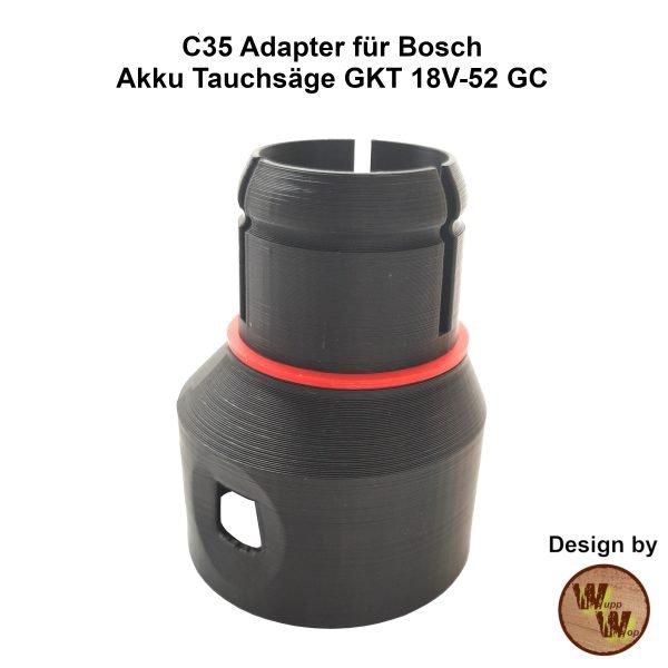 C35 Adapter für Bosch Akku-Tauchsäge GKT 18V-52 GC