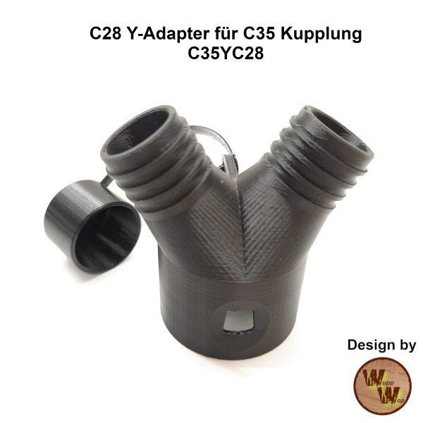 C28 Y-Adapter C35YC28 für C35 Kupplung