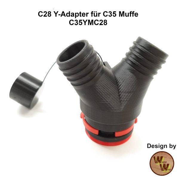 C28 Y-Adapter C35YMC28 für C35 Muffe